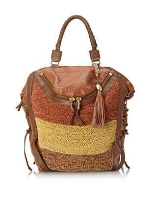 Olivia Harris Women's Columbier Striped Convertible Backpack (Toffee Multi)
