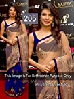 Celebrity Priyanka Chopra Style Blue-Beige Full Net Saree (205)