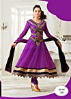 Amisha Patel Designer Purple Anarkali Suit