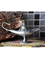 Nuoya 001 Collectable Rare Legend Aladdin Magic Genie Light Lamp Pot Classic Silver