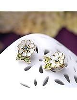 Celebrity Fashion Flower Stud Earring