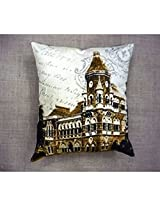 Kitschdii Cotton Canvas Old Indian Building Cushion Cover