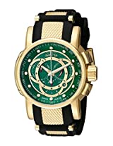 Invicta Men's 0898 S1 Chronograph Green Fiber Dial Black Polyurethane Watch