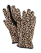 Isotoner Smart Touch Womens Brown Leopard Fleece Smartouch Texting Gloves