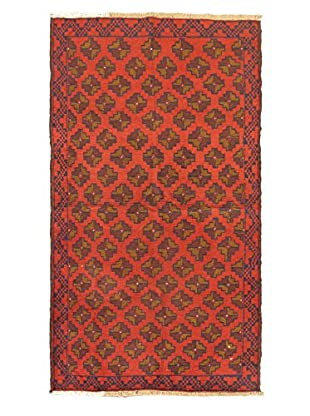 Hand-Knotted Bahor Wool Rug, Red, 3' 5