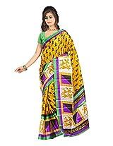 Parichay Women's Silk Saree(Yellow)