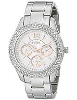 Fossil  Stella Chronograph White Dial Women's Watch - ES3722