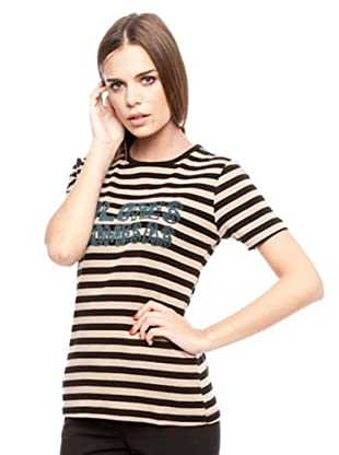 Dolores Promesas Camiseta Rayas (negro / beige)