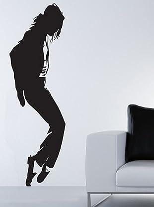 Vinilo Adhesivo Michael Jackson Moonwalk Negro