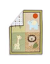 Dream On Me Safari Animals 5 Piece Set Reversible Portable Crib Set