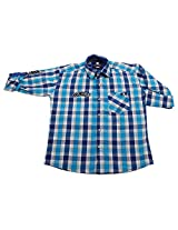 LITTLE MAN Cotton Boy's Shirt (LM7C3_8 , Blue, 8)