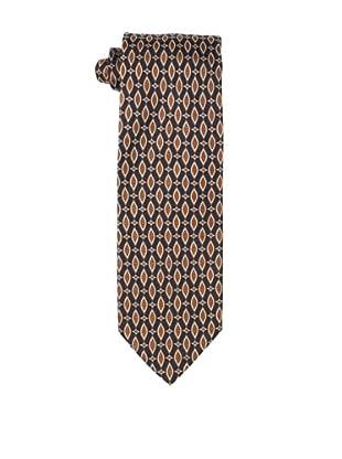 Massimo Bizzocchi Men's Oval Tie, Rust/Black