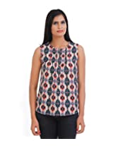 VAAK Women's Printed Blouse 100% Polyester(XS)