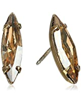 Bing Bang Crystal Yellow Gold Plated Shard Studs