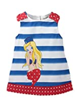 Beebay Cotton Baby Girl Mermaid Print Dress (G3814106301514 -Multi-Colour -7 to 8 Years)