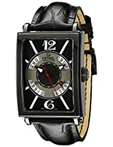 Gevril Men's 5050 Avenue Of Americas Analog Display Automatic Self Wind Black Watch