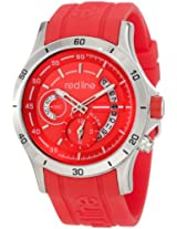 red line Men's 50021-05-RD Tech Red Dial Red Silicone Watch
