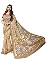 Bhavi Creations Presents Printed Kashida Silk Saree Exclusive Foil Print