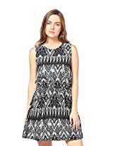 Trend 18 Women's Poly Crepe Aztec Sophisticated Dress