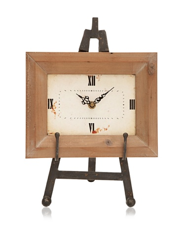 Industrial Chic Wooden Table Clock