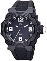 Q&Q Analog Black Dial Unisex Watch - VR56J001Y