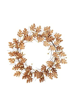 Teton Oak Leaf Design Wreath with Berries