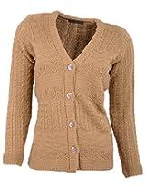 Casanova Women's Long Sleeve Cardigans (7323, Camel, L)