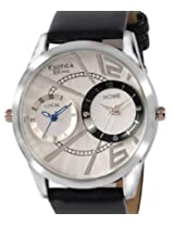 Exotica Analog White Blue Dial Men's Watch (EF-81-Dual-White-Blue)