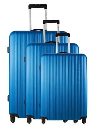 Pascal Morabito Set 3 Trolley 4 Ruedas Pearl (Azul)
