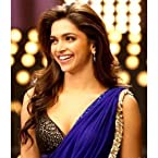 Deepika bollywood replica blue chiffon saree