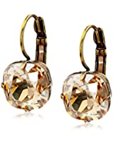 "Liz Palacios ""Arco Iris"" Swarovski Elements Golden Shadow Earrings"