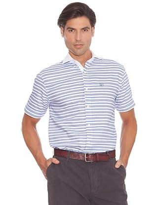 PEDRO DEL HIERRO Camisa Raya Horizontal (azul / marino / blanco)