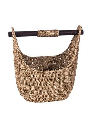 Skalny Oblong Seagrass Storage Basket, Medium, Light Brown