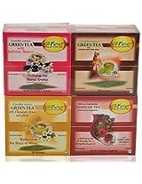 GTEE Green Tea Bags-Jasmine & Green Tea Bags - Ginseng & Hibiscus Tea Bags & Green Tea Bags-Chamomile(10 Tea Bags X 4 PACKS)