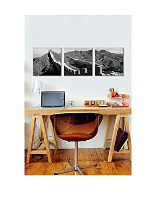 Great Wall of China Panoramic Giclée Canvas Print Triptych