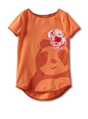 Zolima Panda Girl's T-Shirt with Appliqué (Mandarin)