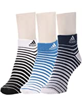 Adidas Flat Knit Low Cut Socks - Pack of 3 (Blue Depth/White/Strong Blue)