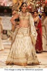 Bollywood Replica Sonam Kapoor Santoon Lehenga In Off White and Gold Colour NC302