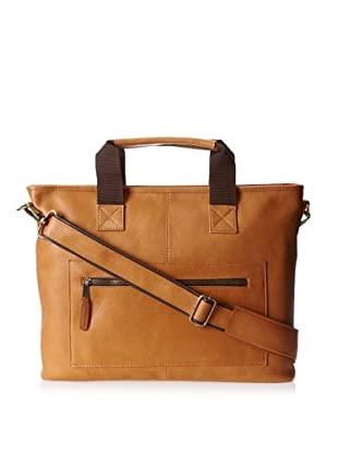 Latico Men's New Orleans Top Handle Laptop Brief (Natural)