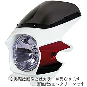 【クリックで詳細表示】Amazon | Nプロジェクト(エヌプロジェクト) ビキニカウル BLUSTERII CB1300SF(~'02) エアロスクリーン(スモーク) パールフェイドレスホワイト 93003 | バイクパーツ | 車&バイク