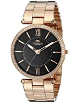 Oniss Paris Women's ON6021N-RGB Stupendo Collection Analog Display Swiss Quartz Black Watch