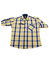 LITTLE MAN Cotton Boy's Shirt (LM7C2_16 , Yellow, 16)