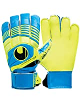 UHL Sports Eliminator Starter Soft Goalkeeper Gloves, Size 10 (Cyan/Yellow)