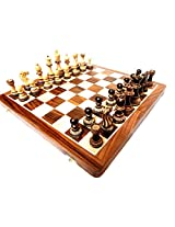 "craft store Hand Made Wooden Statunton Chess Set With 16""x16"" Board Folding"