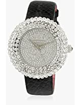 H Ph13578Js/04 Black/Silver Analog Watch Paris Hilton
