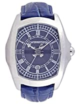 Chronotech Blue Leather Men Analog Watch CT7896M93