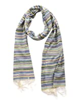 Dushaalaa Women's Scarves (10329_Blue, Blue, L x B : 71 Inches X 20 Inches)