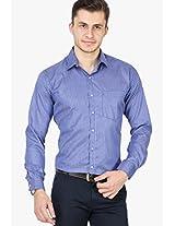 Blue Striped Slim Fit Formal Shirt Copperline
