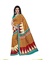 Gugaliya Embellished Fashion STRIPPED MALGUDI art silk saree (1367 B)
