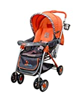Sunbaby Royale Stripe Stroller (Orange)
